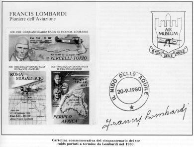 Cartolina - Raid Francis Lombardi